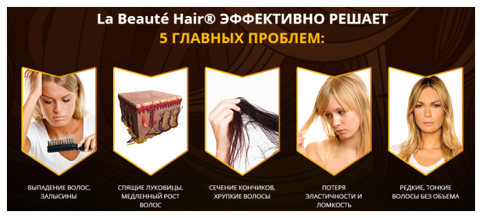 la beauty hair спрей для волосся